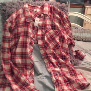Gap long sleeve plaid button down